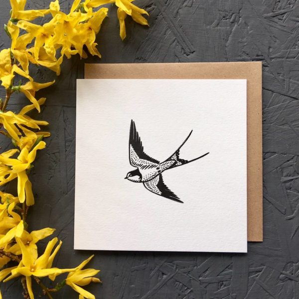 Swallow Greetings Card