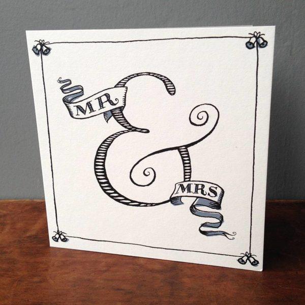 Ampersand Wedding Card