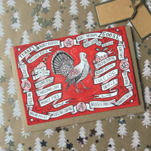 Illustrated Turkey Christmas Cards Pack