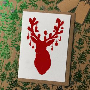 Reindeer Silhouette Christmas Cards Pack