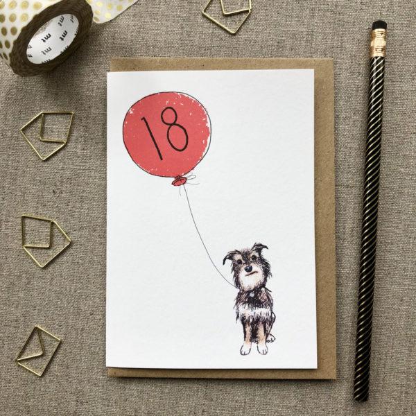 18th Birthday Card Dog