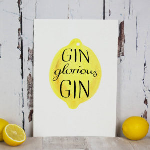 Personalised 'Gin Glorious Gin' Print