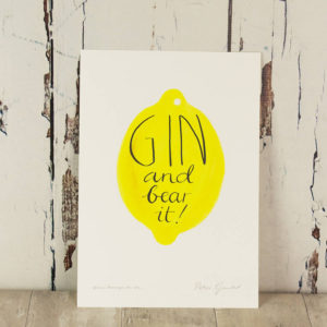 Humorous 'Gin And Bear It' Print