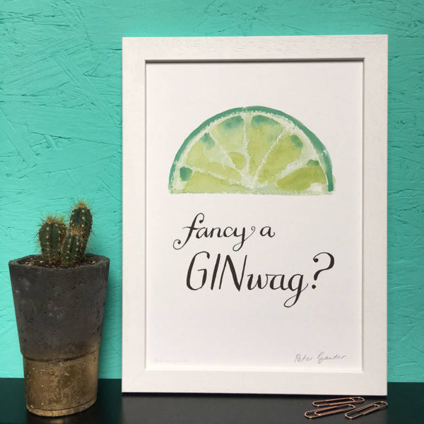 Personalised Fancy A Ginwag Gin Print
