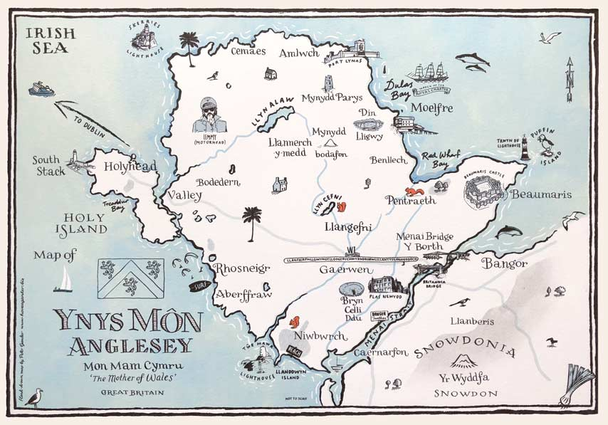 Anglesey Illustrated Map
