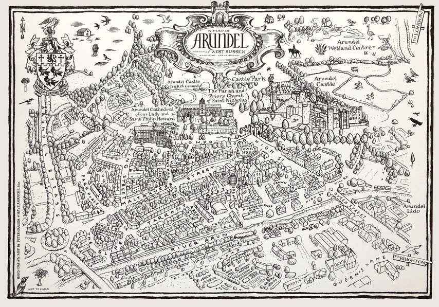 Arundel Illustrated Map