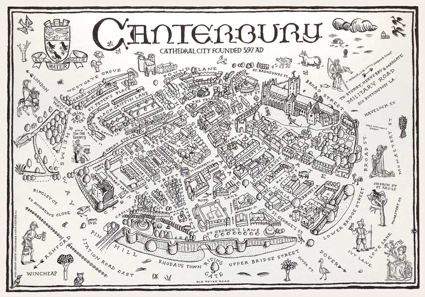 Canterbury Illustrated Map