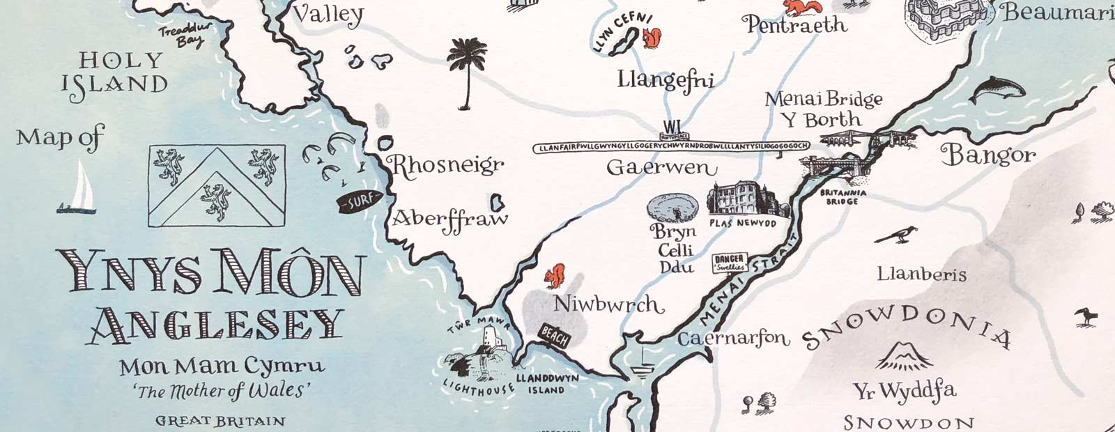 Hero Map of Angelsey