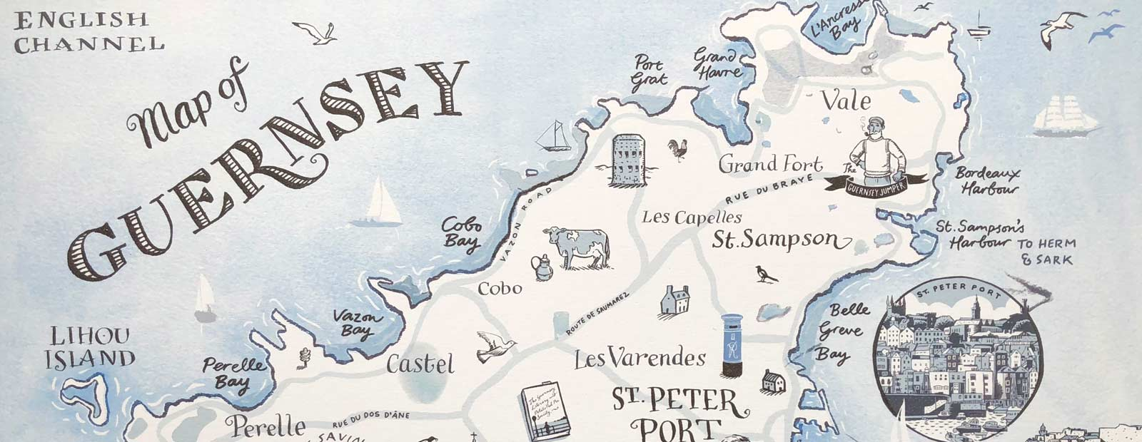 Hero Map of Guernsey