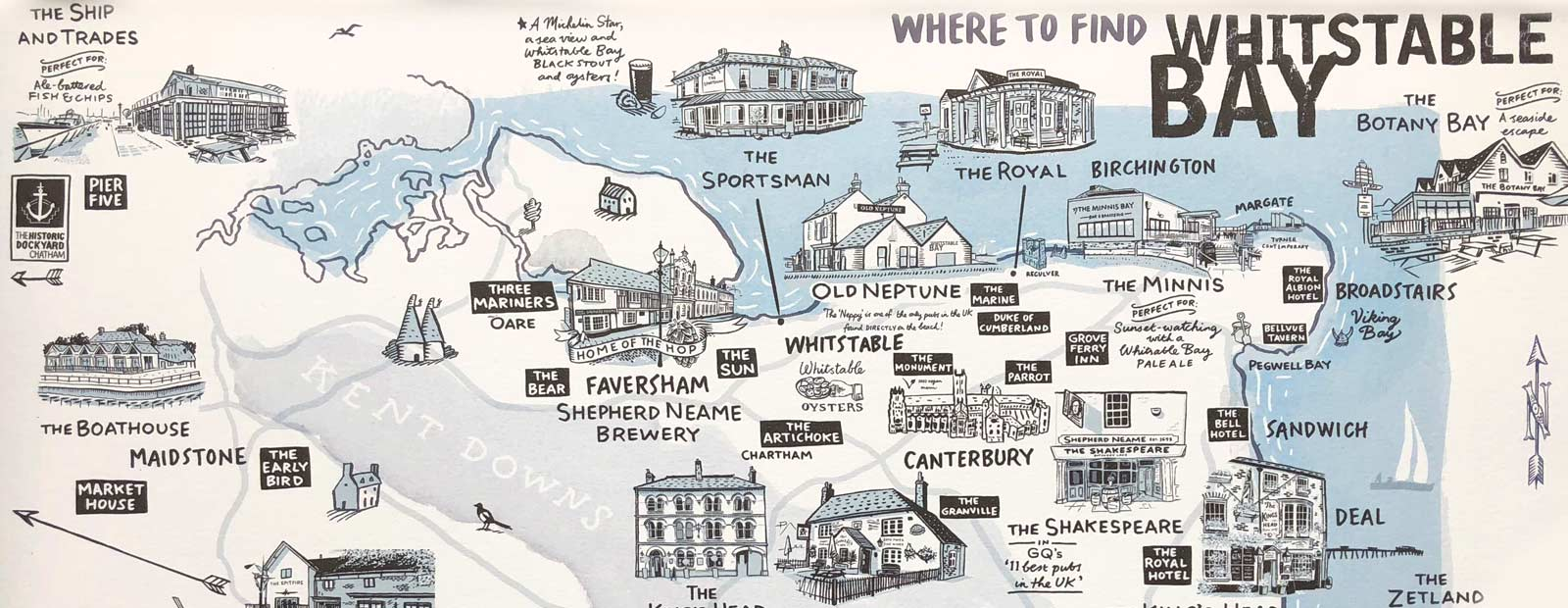 Hero Map of Whitstable Bay