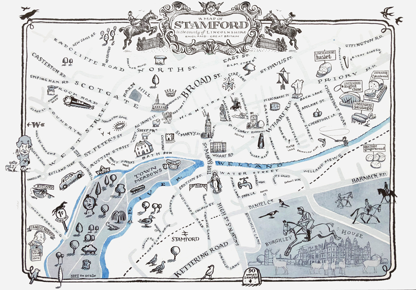 Stamford Illustrated Map