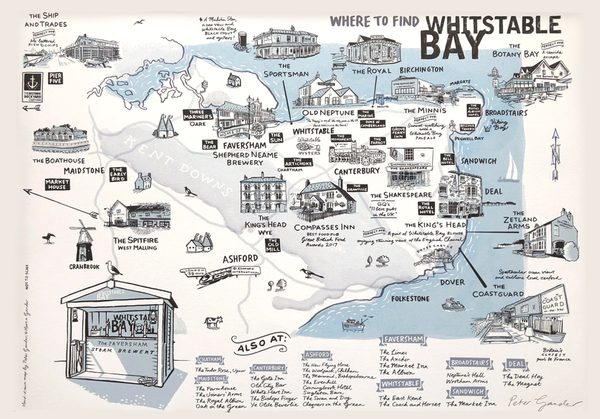 Whitstable Bay Illustrated Map