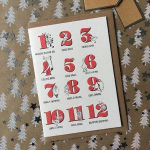 12 Days Of Christmas Christmas Card Pack