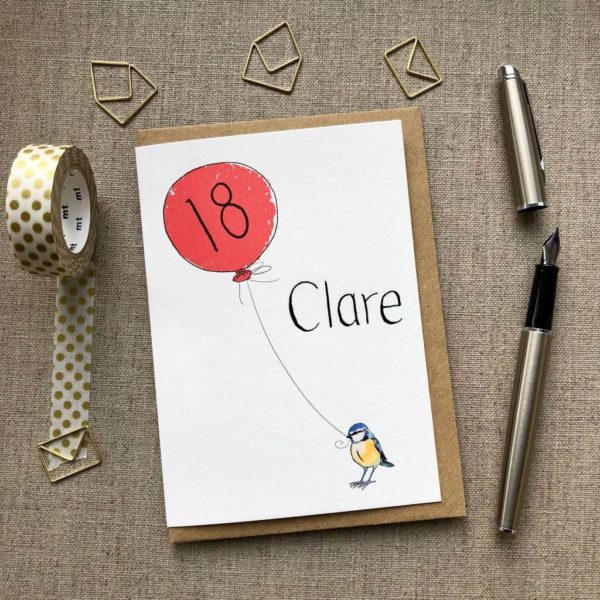18th Birthday Card Bird