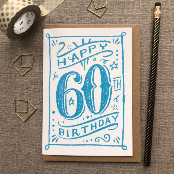 Special Birthday Coloured Chalk Card 60th