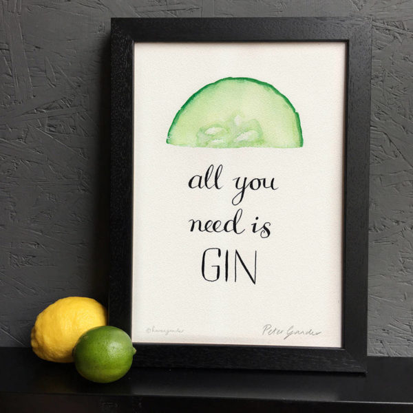 Personalised 'All You Need Is Gin' Print