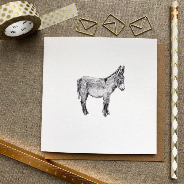 Donkey Greetings Card