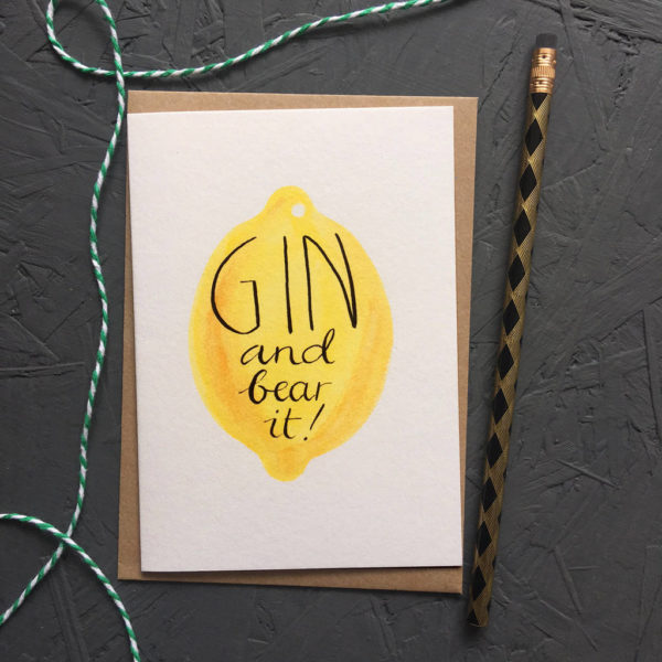 Gin And Bear It Greetings Card