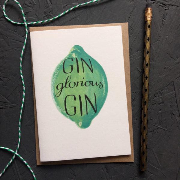 Gin Glorious Gin Greetings Card