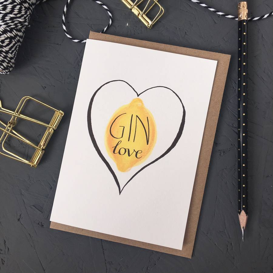 gin lovers greetings card