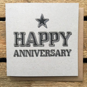 Happy Anniversary Typographic Card