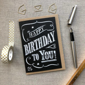 Happy Birthday Chalk Card