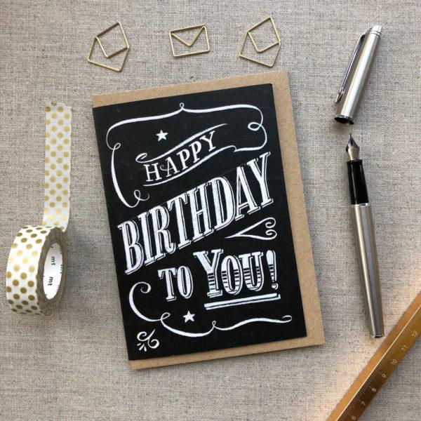 Happy Birthday Chalk Card