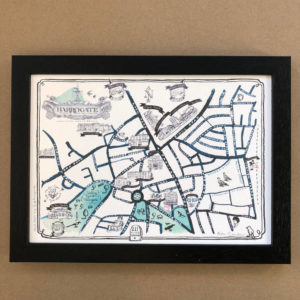 Map Of Harrogate Signed Print