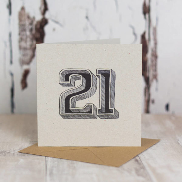 Milestone Birthday Typographic Card