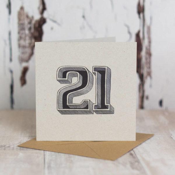 Milestone Birthday Typographic Card