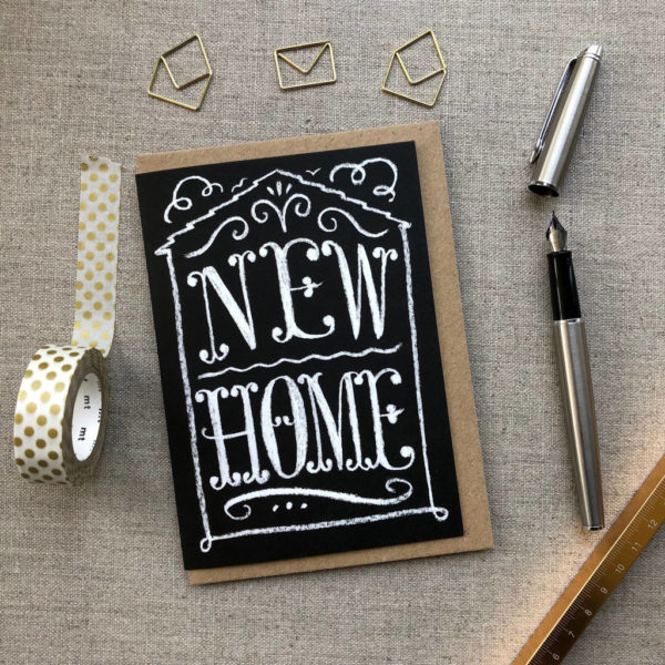 New Home Chalk Card