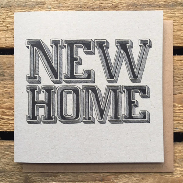 New Home Typographic Card