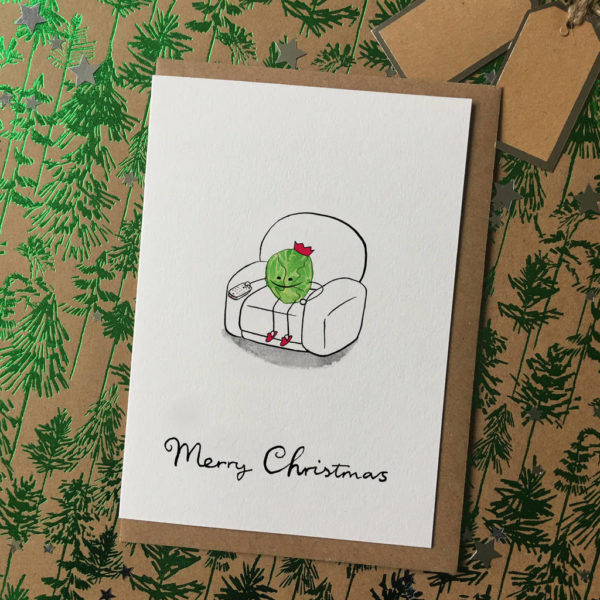 Funny Brussel Sprout Christmas Cards Pack