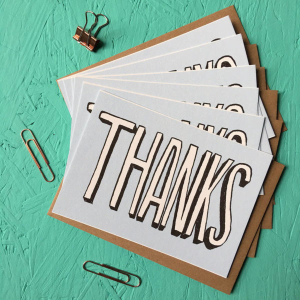 Thank You Cards Pack Of Six