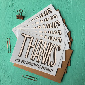 Pack Of Thanks For My Christmas Present Cards