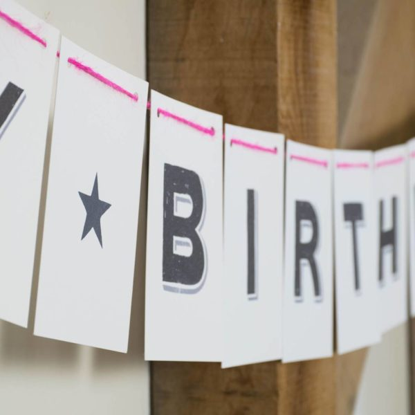 Personalised Bunting Bold Font