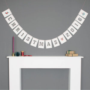 Personalised Christmas Bunting Decoration