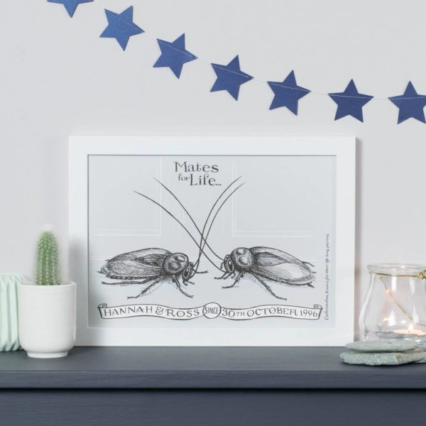 Personalised Cockroach Mates For Life Print