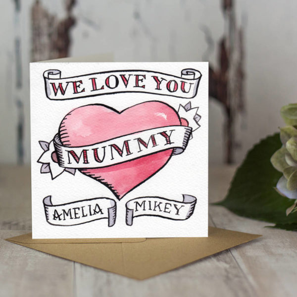 Personalised Hand Drawn Mother's Day Or Birthday Card