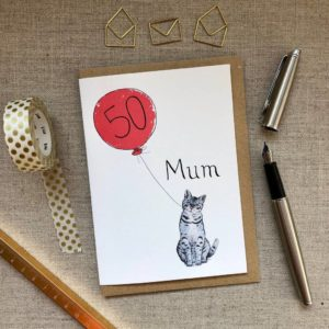 Personalised Birthday Card Cat