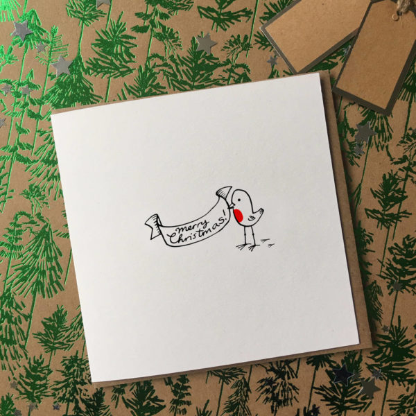 Illustrated Robin Christmas Cards Pack