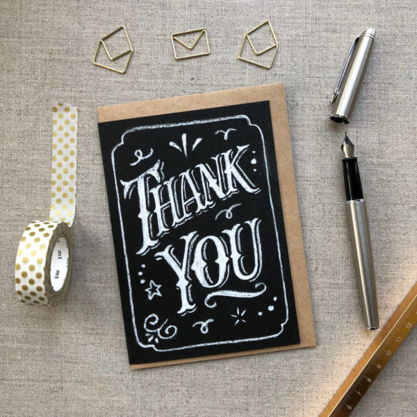 Thank You Chalk Card