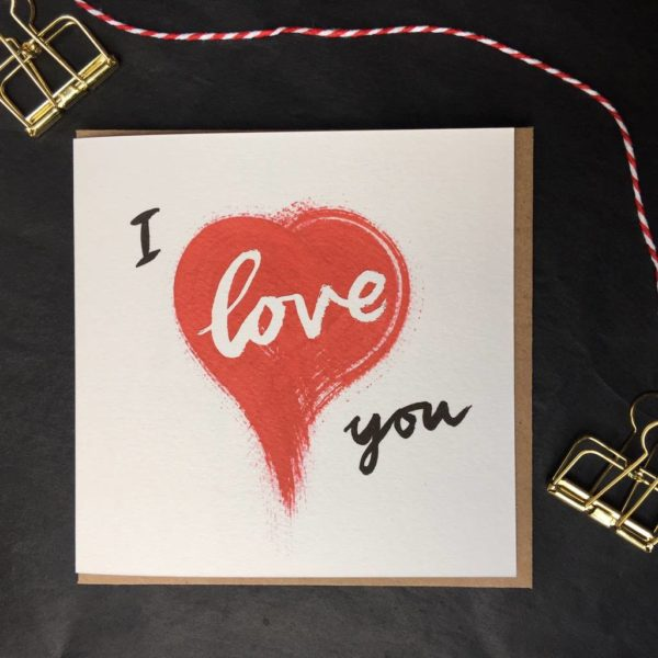 I Love You Heart Anniversary Card