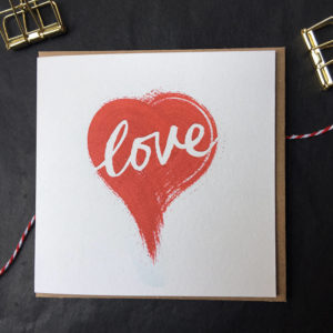 Love Heart Anniversary Card