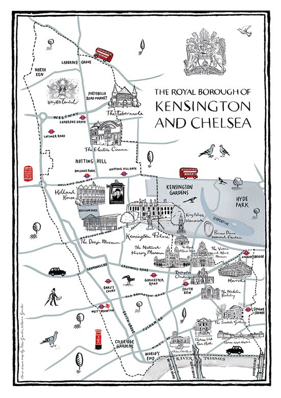 Kensington & Chelsea Illustrated Map