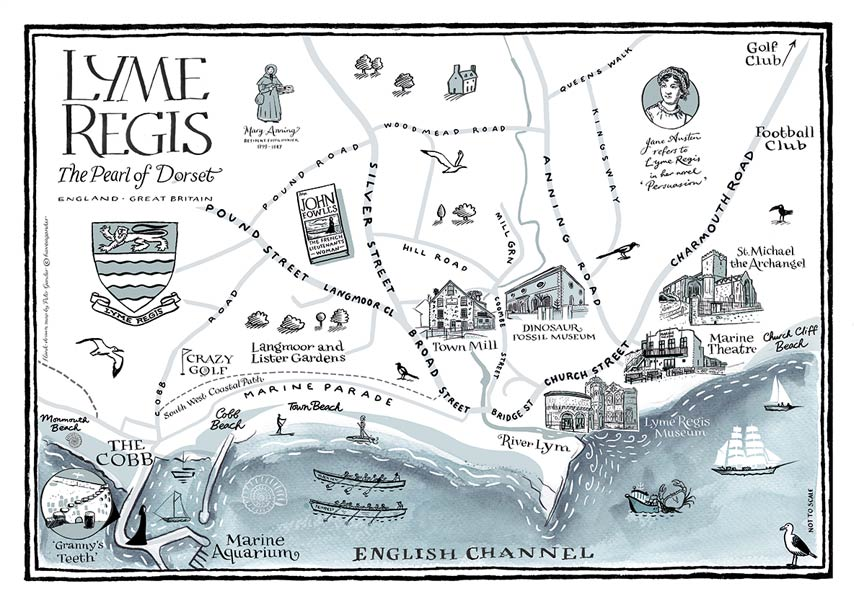 Lyme Regis Illustrated Map