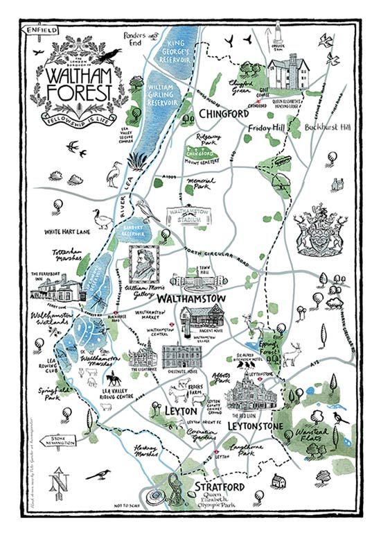 Waltham Forest Illustrated Map